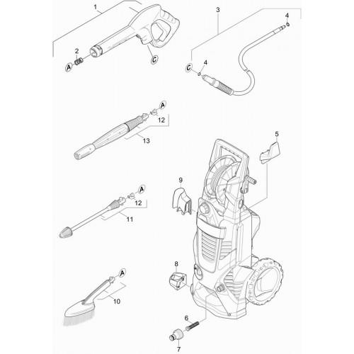 Фиксатор кабеля для минимоек серии K5-K7